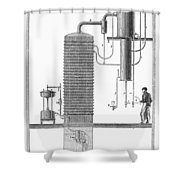 Distillation, 19th Century Shower Curtain