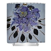 Distorted Flower-dream Shower Curtain