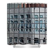 Distorted Reflections Shower Curtain