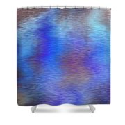 Distorted Waters Shower Curtain