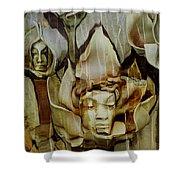 Distortion Shower Curtain