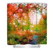 Distortions Of Autumn Shower Curtain
