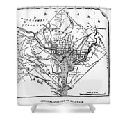 District Of Columbia, 1801 Shower Curtain