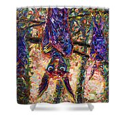Disturbed Shower Curtain by James W Johnson