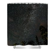 Disturbing The Milky Way Shower Curtain