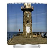 Disused East Pier Lighthouse - Whitby Shower Curtain