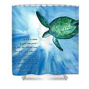 Dive Deep Shower Curtain by Michal Madison