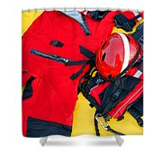 Diver Emergency Rescue Kit Shower Curtain