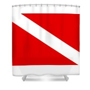 Diver Flag Shower Curtain
