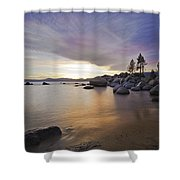 Divers Cove At Sand Harbor Shower Curtain