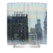 Divine Lorraine And City Hall - Philadelphia Shower Curtain