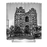 Divine Lorraine In Pain - Black And White Shower Curtain