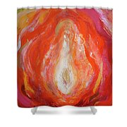 Divine Source - Fire Shower Curtain
