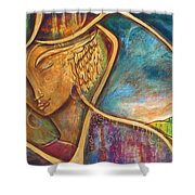 Divine Wisdom Shower Curtain by Shiloh Sophia McCloud