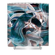 Diving Into Your Ocean 3 Shower Curtain