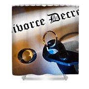 Divorce Decree Shower Curtain