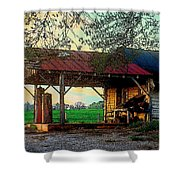 Dixie Oil And Gasoline Shower Curtain