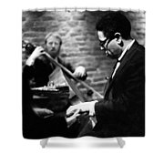 Dizzy On Piano Shower Curtain