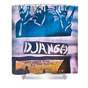 Django Once Upon A Time Shower Curtain