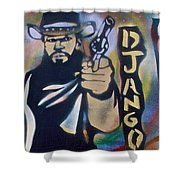 Django Three Faces Shower Curtain