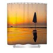 Djibouti Sunset Shower Curtain