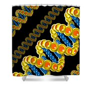 Dna Strand - Dna Strands Art - Genetics Genetic - Gene Genes - Conceptual - Abstract Illustration Shower Curtain