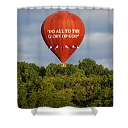 Do All To The Glory Of God Balloon Shower Curtain