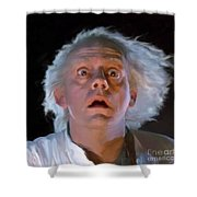 Doc Brown Shower Curtain