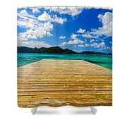 Dock And Beautiful Water Shower Curtain