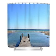 Dock And Traverse Bay Shower Curtain