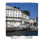 Dock At Alcatraz Island Shower Curtain