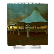 Dock At National Harbor Shower Curtain