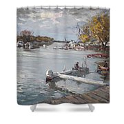 Dock At The Bay North Tonawanda Shower Curtain