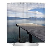 Dock Glowing In The Sunlight Shower Curtain