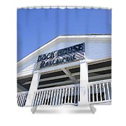 Dock House Restaurant Shower Curtain