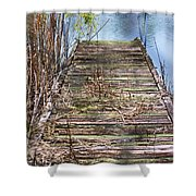 Dock In The Glades Shower Curtain