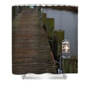 Dock Light Shower Curtain