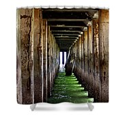 Dock Of The Bay Shower Curtain by Bill Gallagher