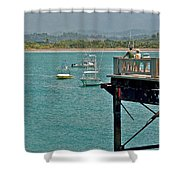 Dock Overlooking Quepos Bay-costa Rica Shower Curtain
