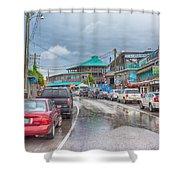 Dock Street - Cedar Key Shower Curtain
