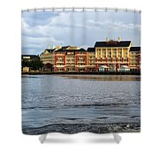 Docked At The Boardwalk Walt Disney World Shower Curtain
