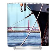 Docked In San Francisco Bay Shower Curtain