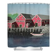 Docked - Original Sold Shower Curtain