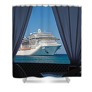 Docked In My Dreams Shower Curtain