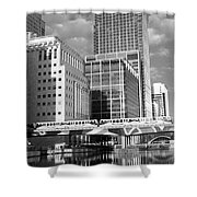 Docklands London Mono Shower Curtain
