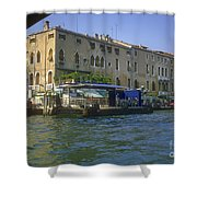 Docks On The Grand Canal Shower Curtain
