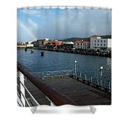 Dockside Rainbow  Shower Curtain