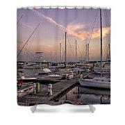 Dockside Sunset In Beaufort South Carolina Shower Curtain by Reid Callaway