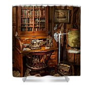 Doctor - My Tiny Little Office Shower Curtain by Mike Savad