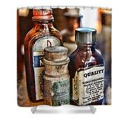 Doctor The Mercurochrome Bottle Shower Curtain by Paul Ward